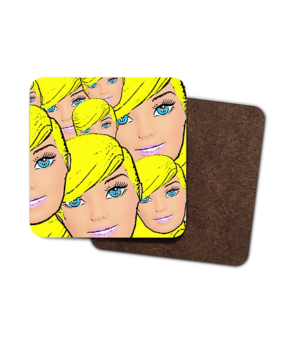 4 x Short Hair, Don't Care, Funny Drinks Coasters!