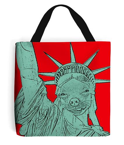 The Statue of Chihuahua Tote Bag