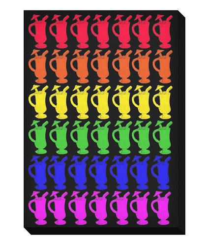 Cocktail Rainbow Canvas