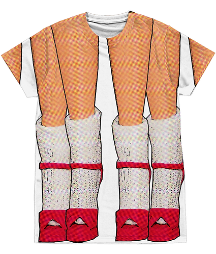 Socks & Stilettos, Funny, Sublimation Unisex T-Shirt