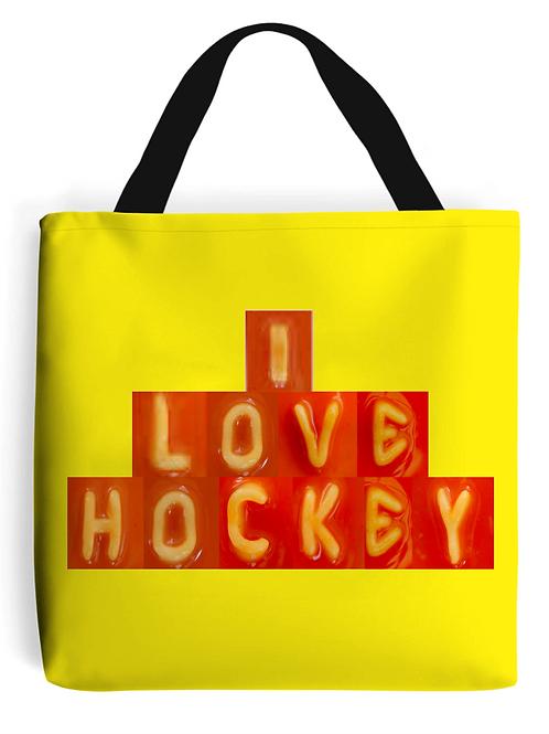 Spaghetti Field Hockey Tote Bag