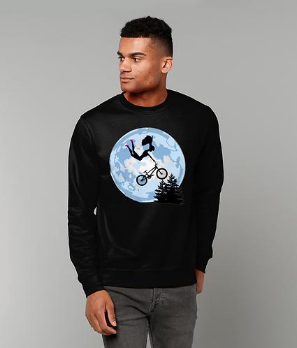 Doll Riding A BMX, ET Style Sweatshirt