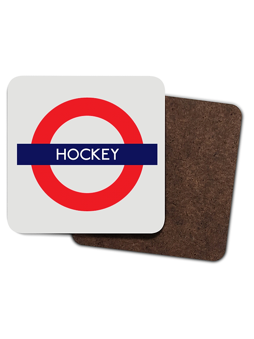 4 x Hockey Tube! Funny Field Hockey Drinks Coasters