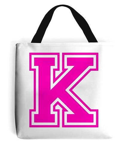 Alphabet Letter Tote Bag