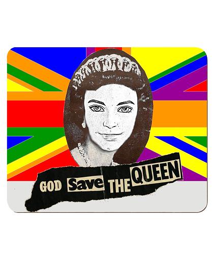 4 x God Save The Queen (Ken)! Gay Place Mats