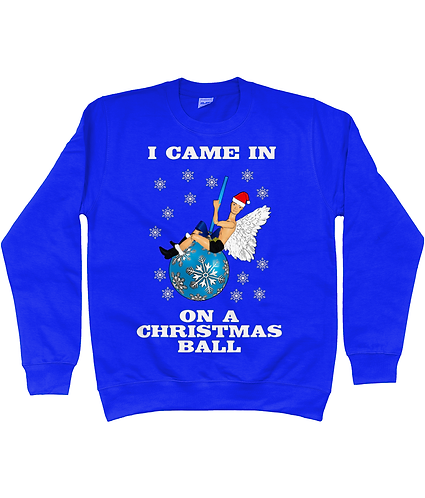 I Came In On A Christmas Ball, Funny, Gay, Xmas Jumper!