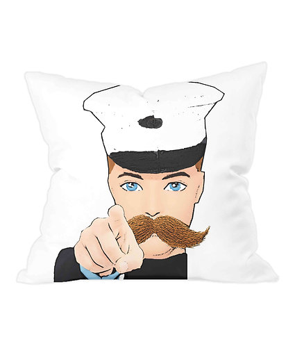 Hey You! Iconic Wartime Poster Throw Cushion Cover