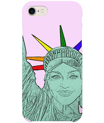 Madonna as The Statue of Liberty, Funny, Gay, i-Phone Case
