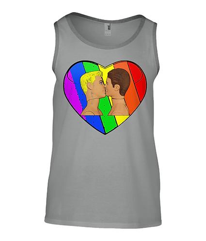 Love & Pride, Gay Kiss Tank Top