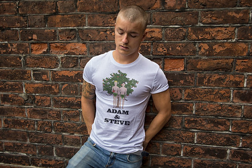 Adam & Steve, Funny, Gay Men's T-Shirt
