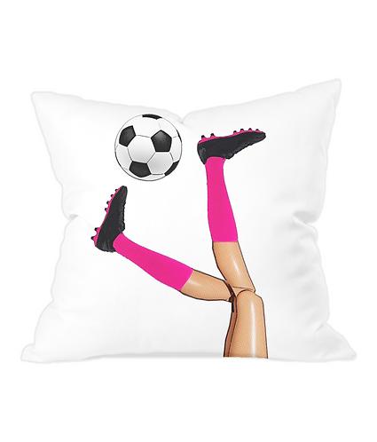 Women's Soccer Throw Cushion Cover