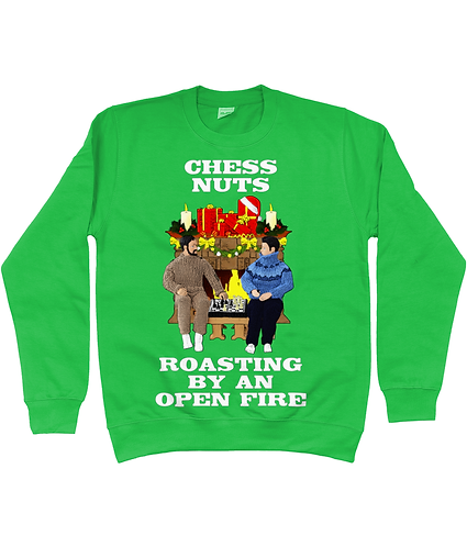 Chess Nuts Roasting By An Open Fire! Funny Christmas Jumper!