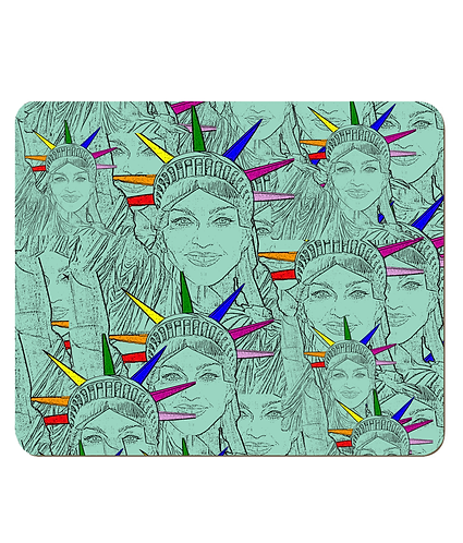 4 x Madonna Morphed Into The Statue of Liberty Gay Place Mats
