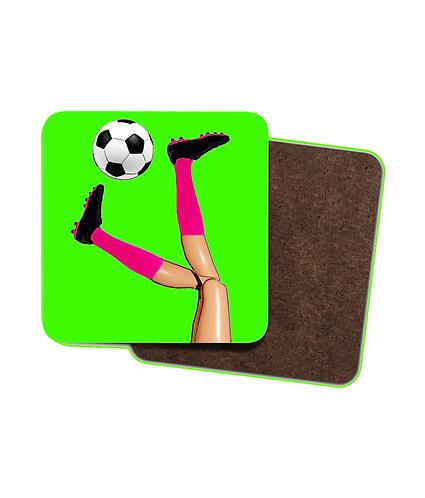 4 x Girls Soccer Skills Drinks Coasters!
