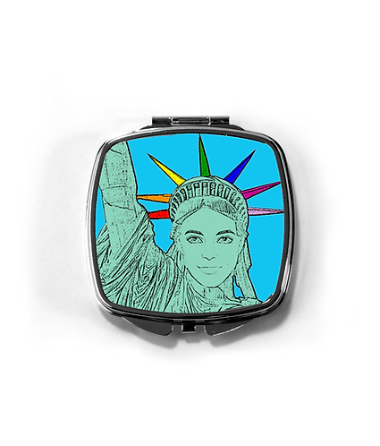 The U.S. of Gay, Pop Art Statue of Liberty Compact Mirror