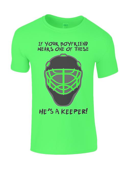 Boyfriends a Keeper Kids Field Hockey T-Shirt