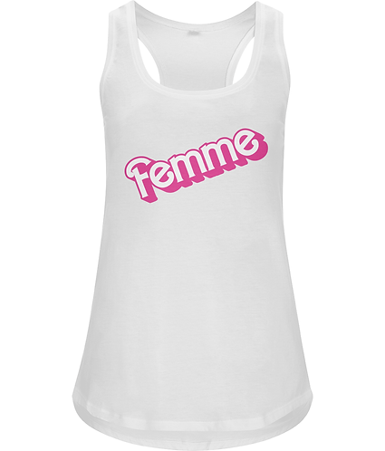 Femme!  Funny Lesbian Racerback Vest