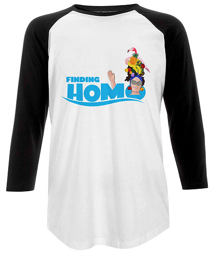 Finding Homo! Funny, Gay, Baseball Shirt