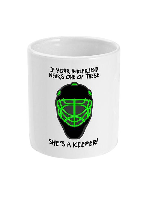 Girlfriends A Keeper! Field Hockey Mug