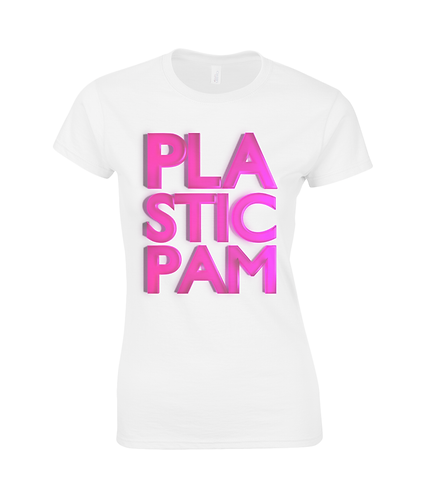 Plastic Pam Ladies T-Shirt