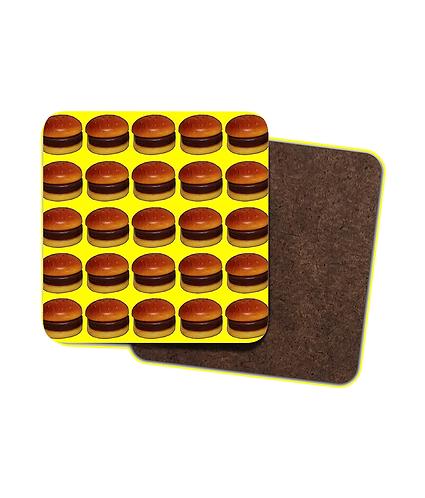 4 x Hamburger Heaven! Funny Drinks Coasters!