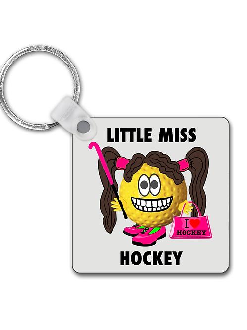 Little Miss Hockey, Funny Field Hockey Keyring