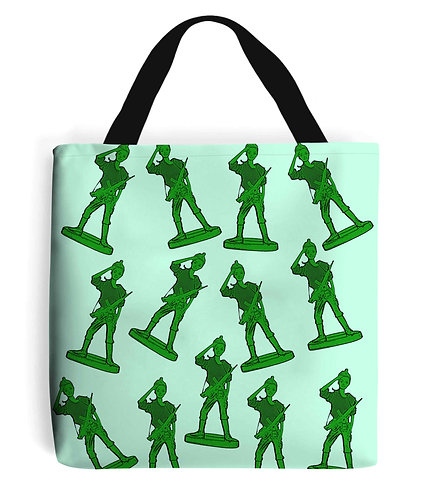 Girl Toy Soldiers Tote Bag