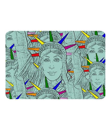Cher As The Statue of Liberty! Gay Pet Food Mat