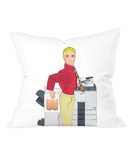 Fun At The Photocopier Throw Cushion Cover