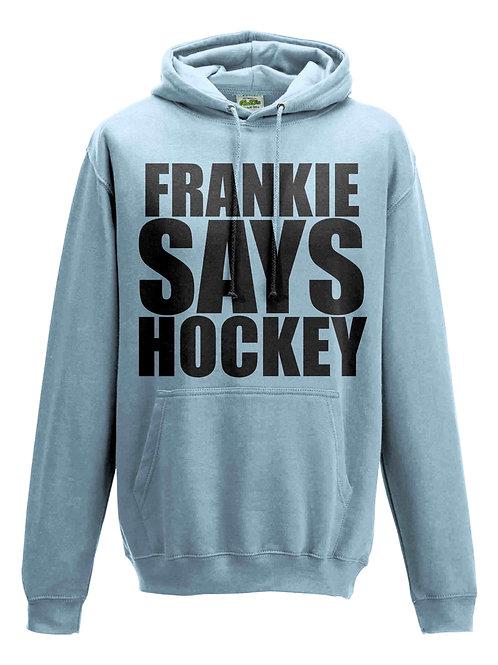 Personalised Frankie Says Hockey Kids Field Hockey Hoodie