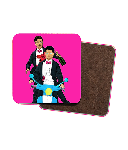 4 x Gay Marriage Drinks Coasters!
