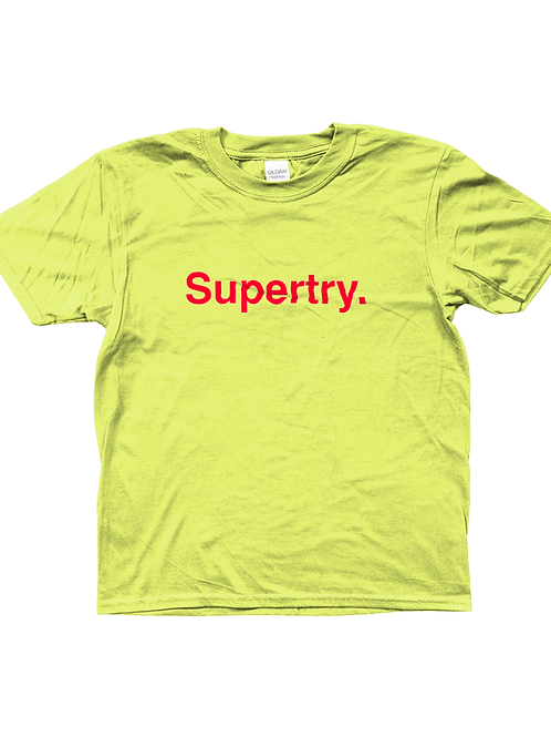 Super Try! Funny, Kids Rugby T-Shirt