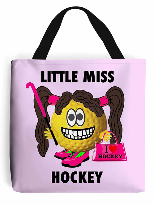 Little Miss Hockey, Field Hockey Tote Bag