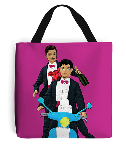 Just Married, Gay Tote Bag