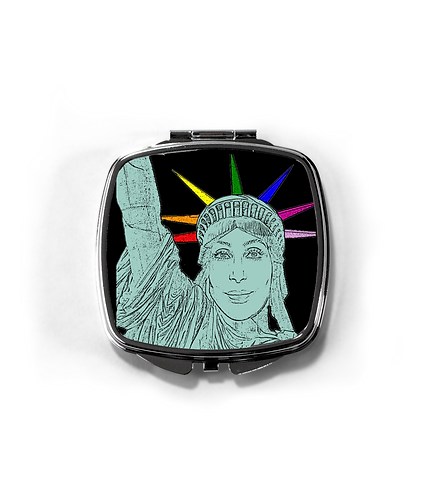 Cher as The Statue of Liberty! LGBT Compact Mirror! Lesbo!