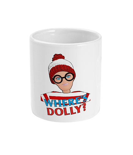 Funny Spoof Mug! Where's Doll?