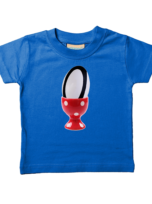 Egg Chaser! Cool, Funny, Babies Rugby T-Shirt