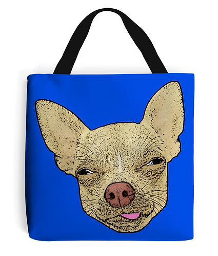Lick Me Chihuahua! Funny Tote Bag