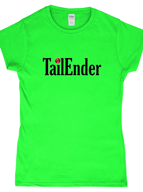 Tailender! Funny, Ladies Cricket T-Shirt