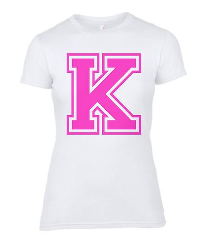 Alphabet Letter Ladies T-Shirt