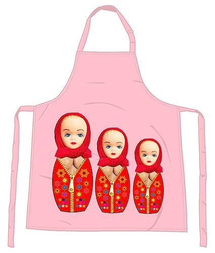 "Russian ""Nestling"" Dolls Apron"