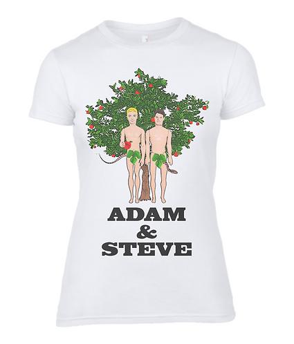 Adam & Steve, Gay Ladies T-Shirt