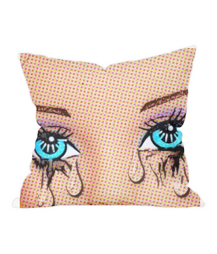 Tears Pop Art Throw Cushion Cover