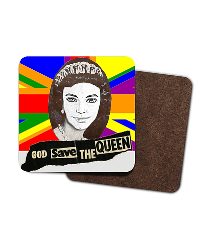 4 x God Save The Queen (Ken)! Gay Drinks Coasters!