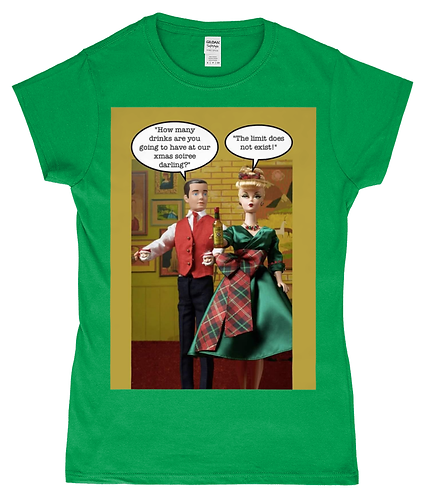 How Many Drinks Are You Having at our Xmas Soiree?! Funny, Ladies Xmas T-Shirt!