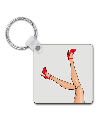 Great Legs & Red Stilettos, Funny Keyring