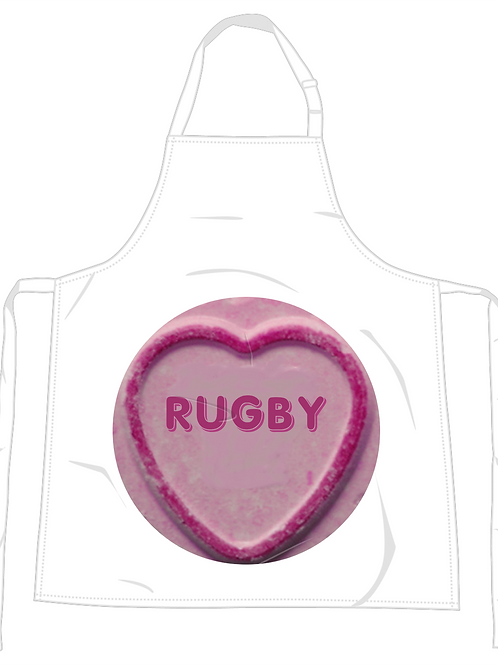 Rugby Loveheart Apron