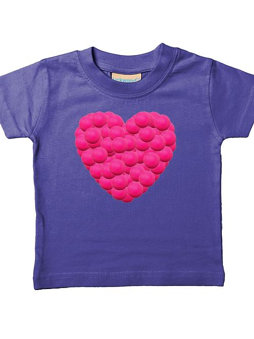 Hockey Ball Heart! Cool, Babies Field Hockey T-Shirt