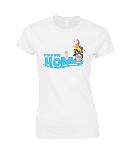 Finding Homo! Funny, Gay, Ladies T-Shirt