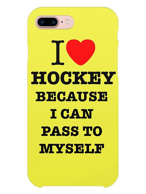 I Love Hockey Because i-phone case
